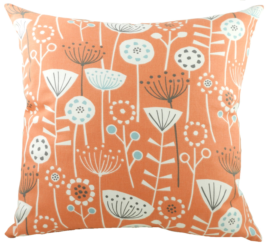 Nordic Seedheads Burnt Orange Cushion