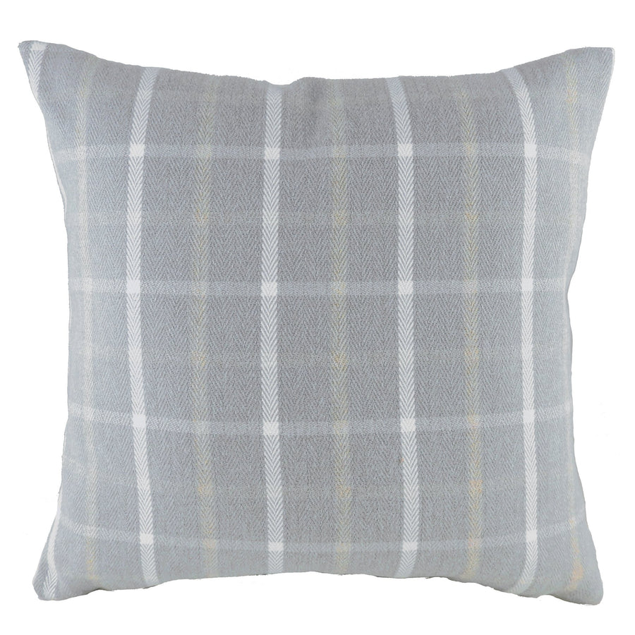 Perth Check Light Grey Cushion