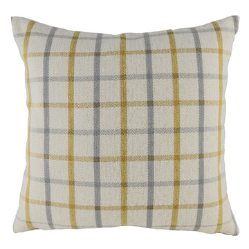 Perth Check Natural Cushion
