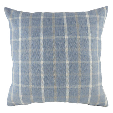 Perth Check Blue Cushion
