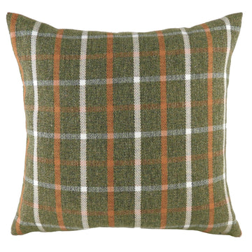 Perth Check Sage/Orange Cushion