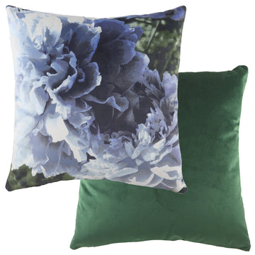 Photo Florals Blue Cushion