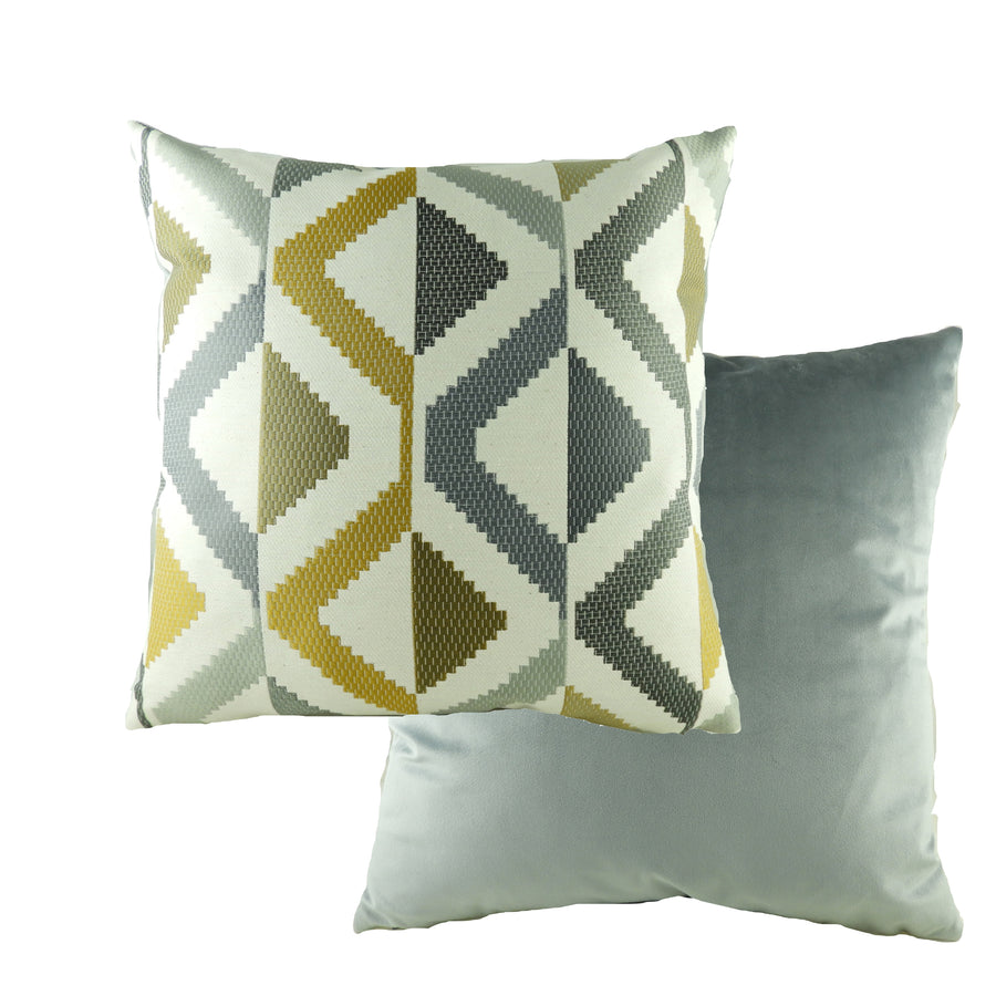 Pingxi Abstract Ochre Cushion