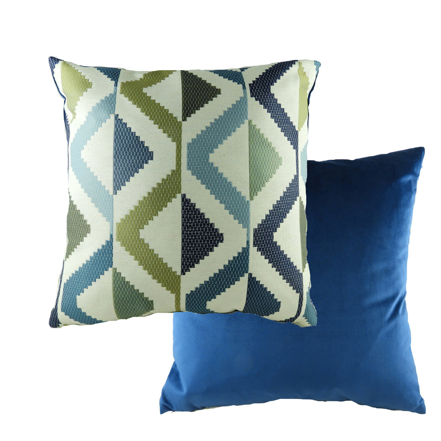 Pingxi Abstract Blue Cushion