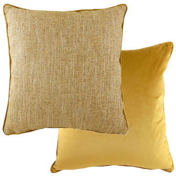 Piped Polaris Gold Cushion