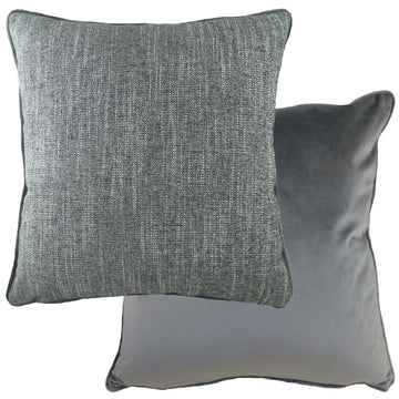 Piped Polaris Dark Grey Cushion