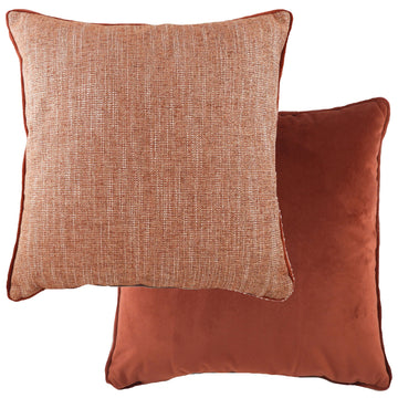 Piped Polaris Terracotta Cushion