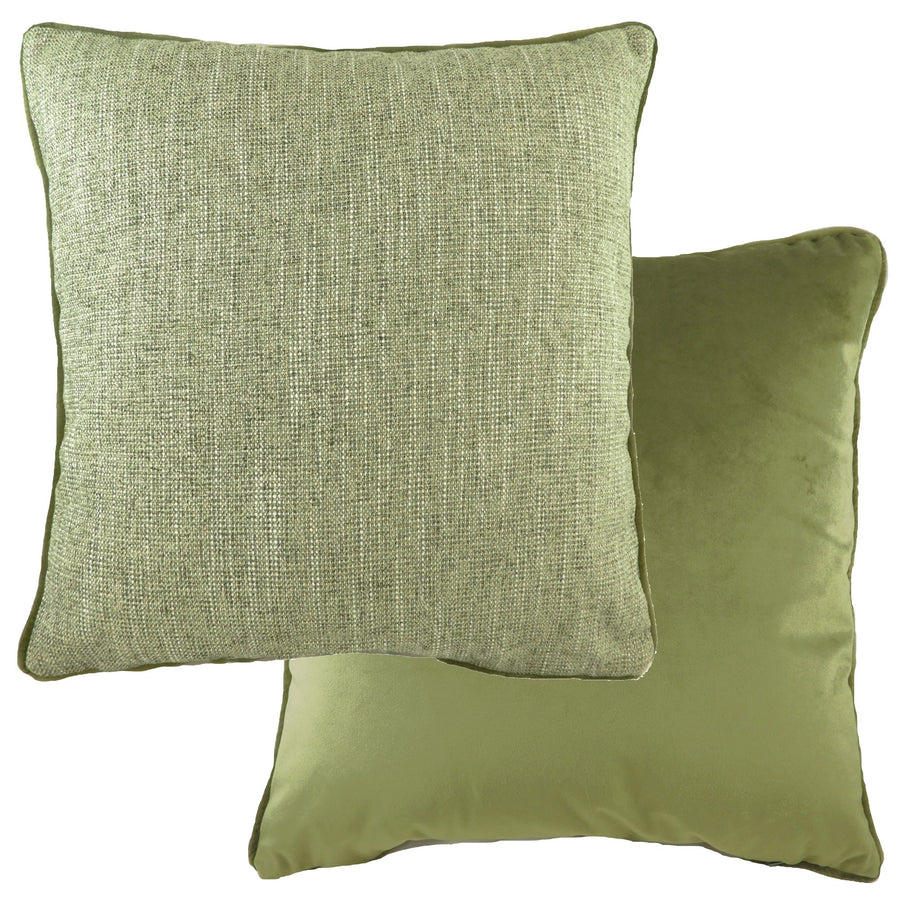 Piped Polaris Olive Cushion