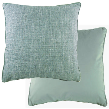 Piped Polaris Eau De Nil Cushion