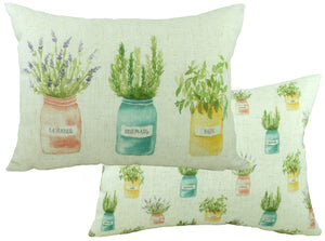 Pots of Nature Herbs Cushion