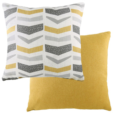 Retro Geo Ochre Cushion