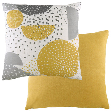 Retro Circles Ochre Cushion