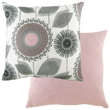 Retro Dandelion Nat/Pink Cushion