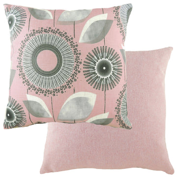 Retro Dandelion Pink Cushion