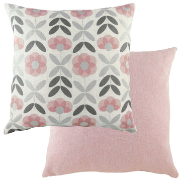 Retro Floral Pink Cushion