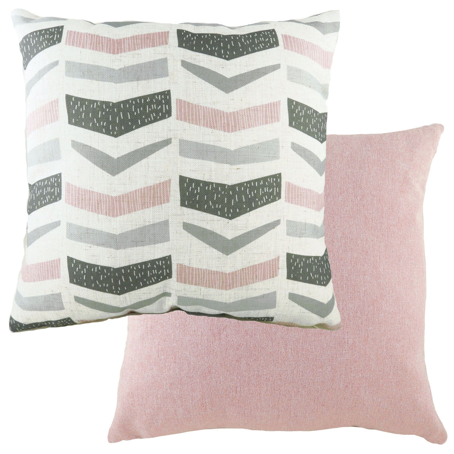 Retro Geo Pink Cushion