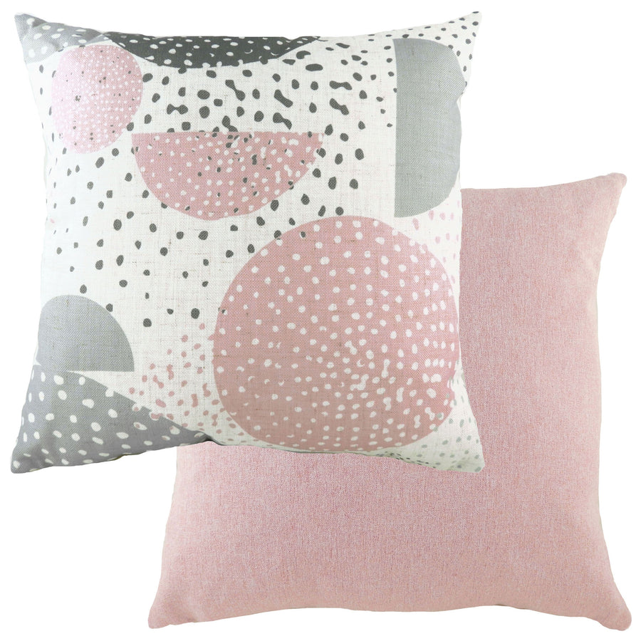 Retro Circles Pink Cushion
