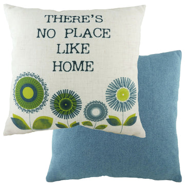 Retro Home Denim Cushion