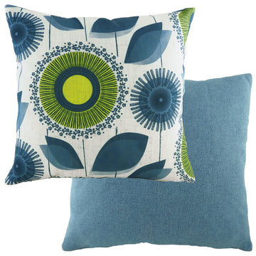 Retro Dandelion Nat/Denim Cushion
