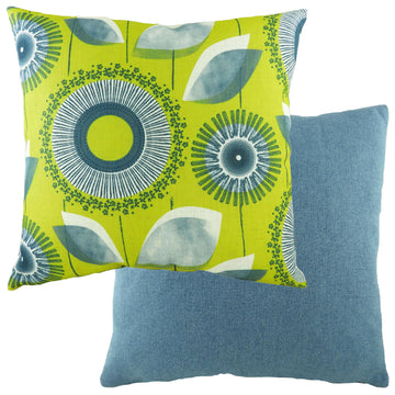 Retro Dandelion Denim Cushion