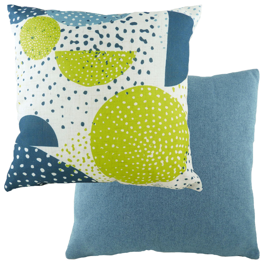 Retro Circles Denim Cushion