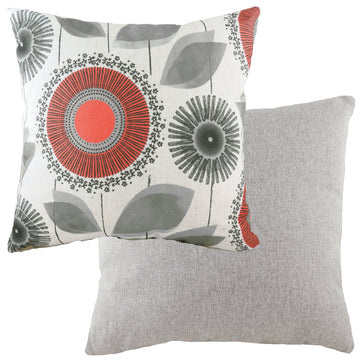 Retro Dandelion Nat/Coral Cushion
