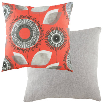 Retro Dandelion Coral Cushion