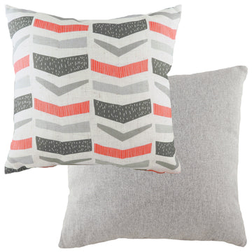 Retro Geo Coral Cushion