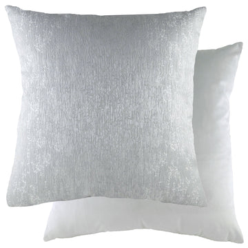 Rion Dove/Velvet Silver Cushion