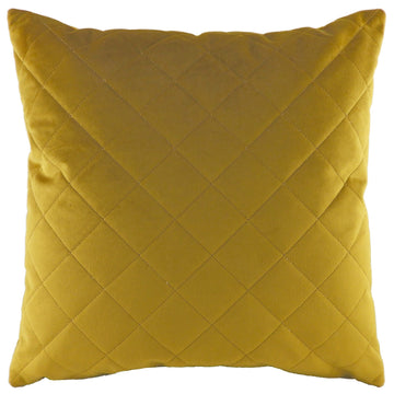 Royal Velvet Gold Diamond Quilted Cushion
