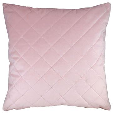 Royal Velvet Blush Pink Diamond Quilted Cushion