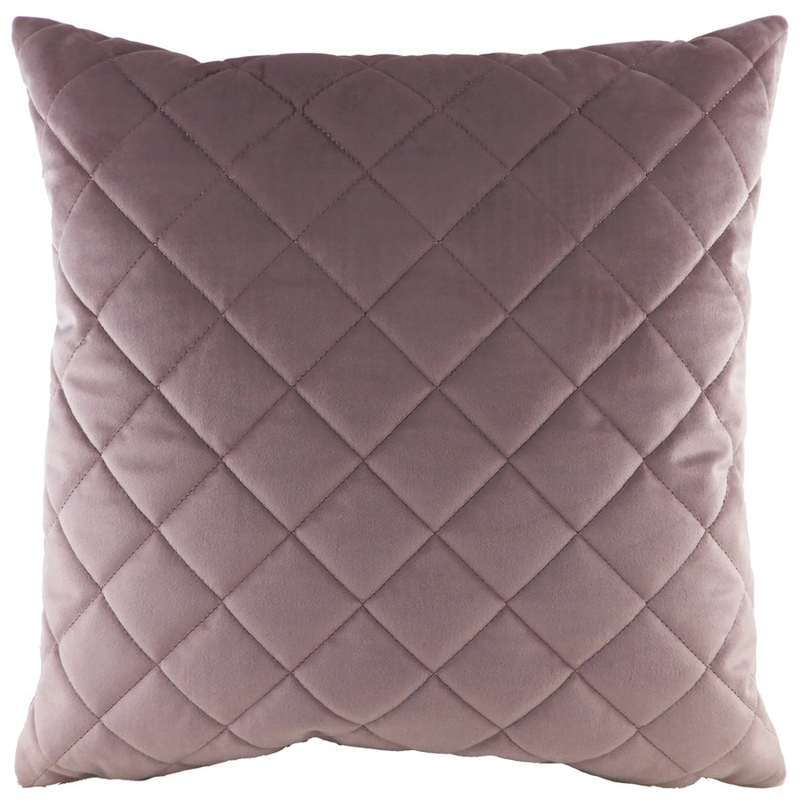 Royal Velvet Dusky Pink Diamond Quilted Cushion