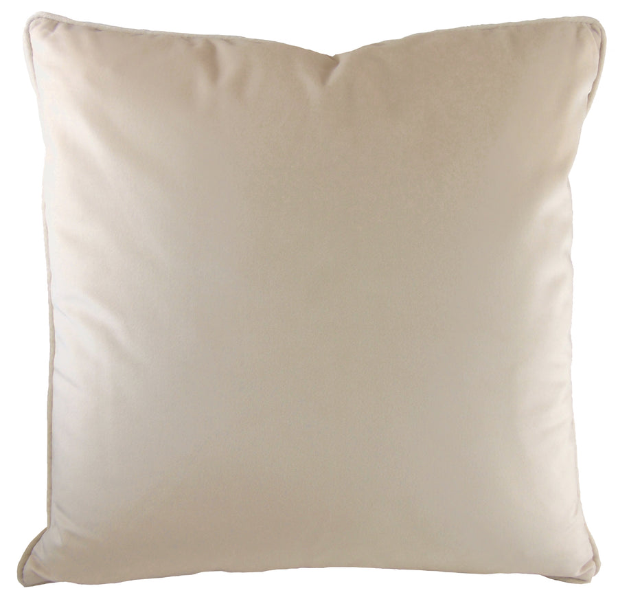 Royal Velvet Natural Piped Cushion