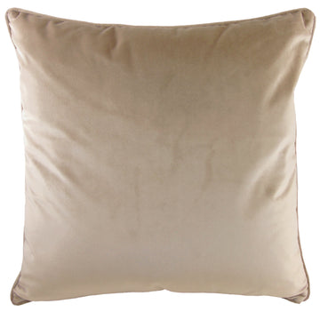 Royal Velvet Mocha Piped Cushion