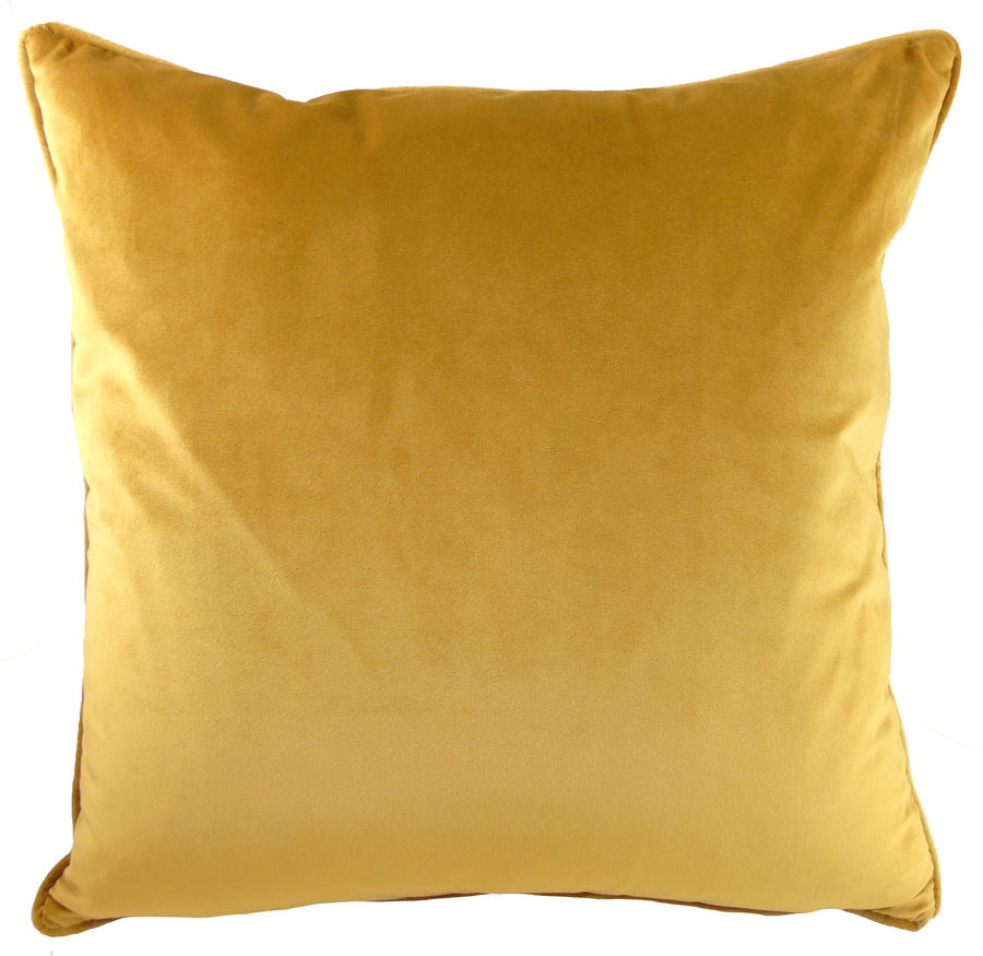 Royal Velvet Gold Piped Cushion