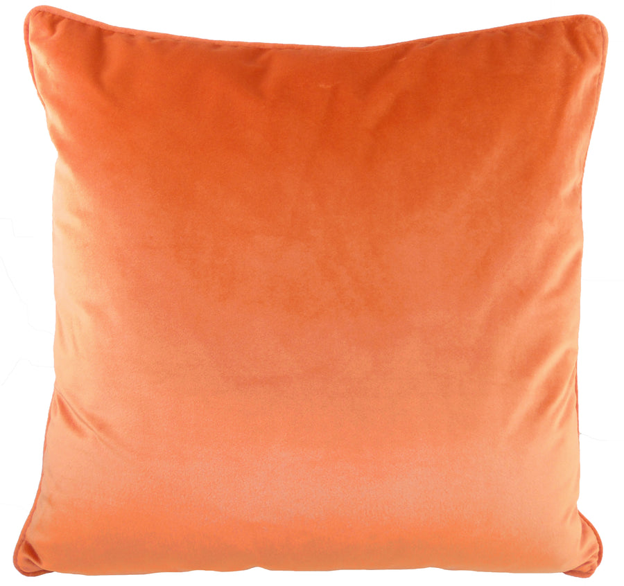 Royal Velvet Pumpkin Piped Cushion