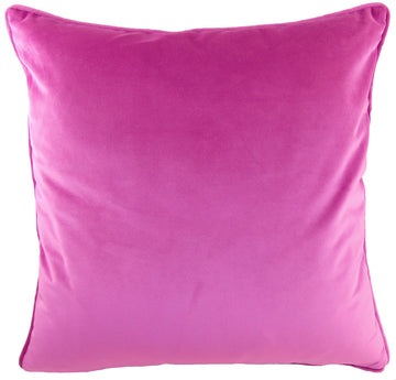 Royal Velvet Fuchsia Piped Cushion