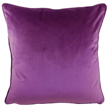 Royal Velvet Amethyst Piped Cushion
