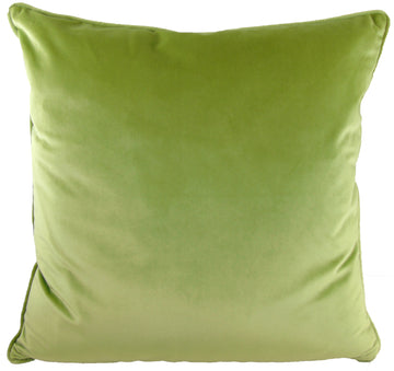 Royal Velvet Green Piped Cushion