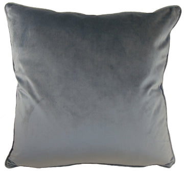 Royal Velvet Dark Grey Piped Cushion