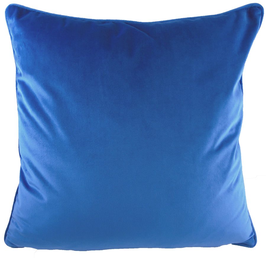 Royal Velvet Azure Piped Cushion