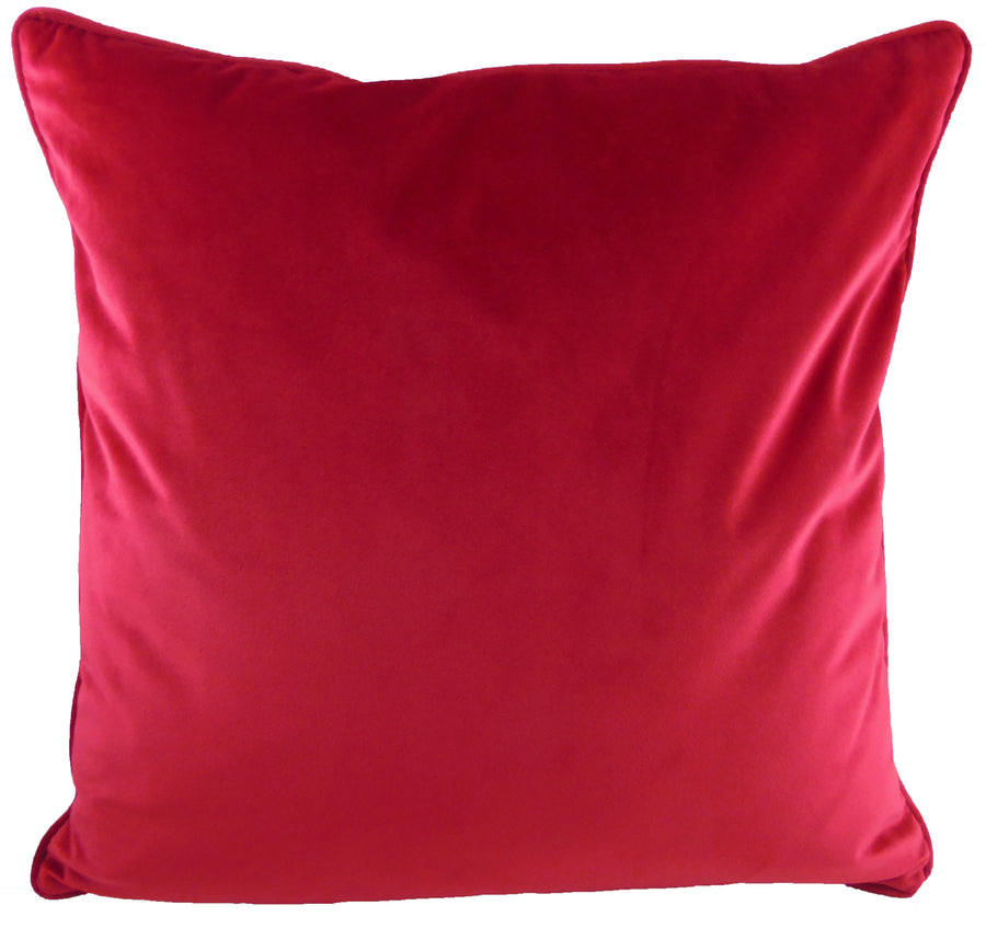Royal Velvet Scarlet Piped Cushion