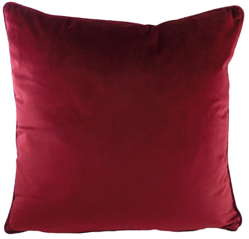 Royal Velvet Burgundy Piped Cushion