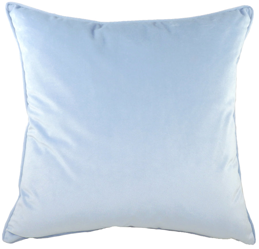 Royal Velvet Cornflower Blue Piped Cushion
