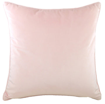 Royal Velvet Blush Pink Piped Cushion