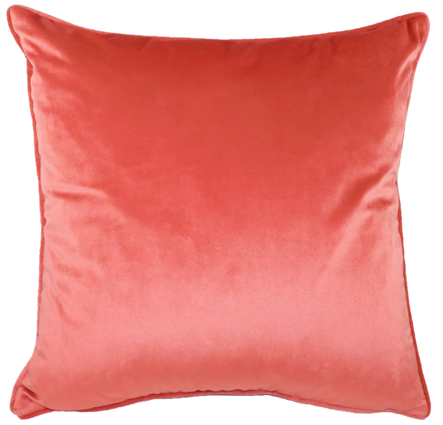 Royal Velvet Coral Piped Cushion