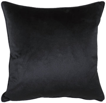 Royal Velvet Black Piped Cushion