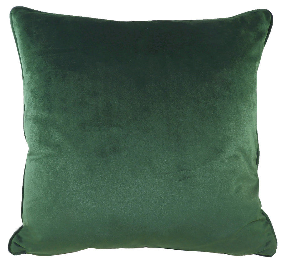 Royal Velvet Dark Green Piped Cushion