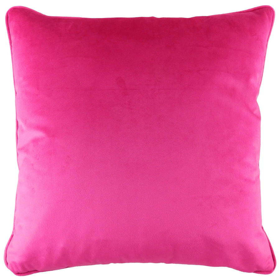 Royal Velvet Magenta Piped Cushion