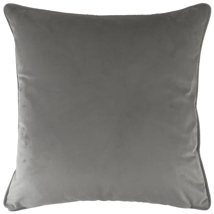 Royal Velvet Steel Grey Piped Cushion